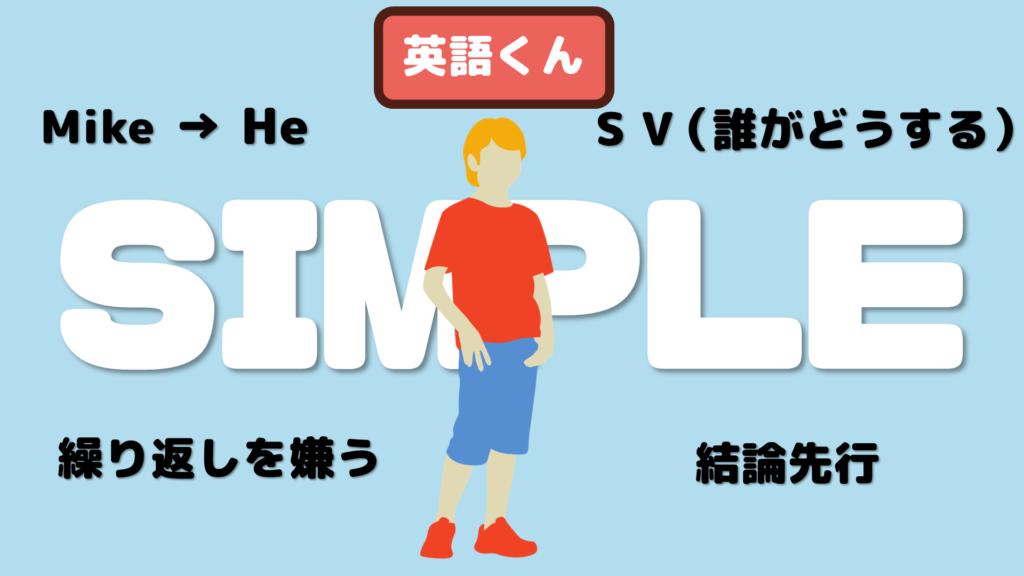 シンプルさを求める英語くん