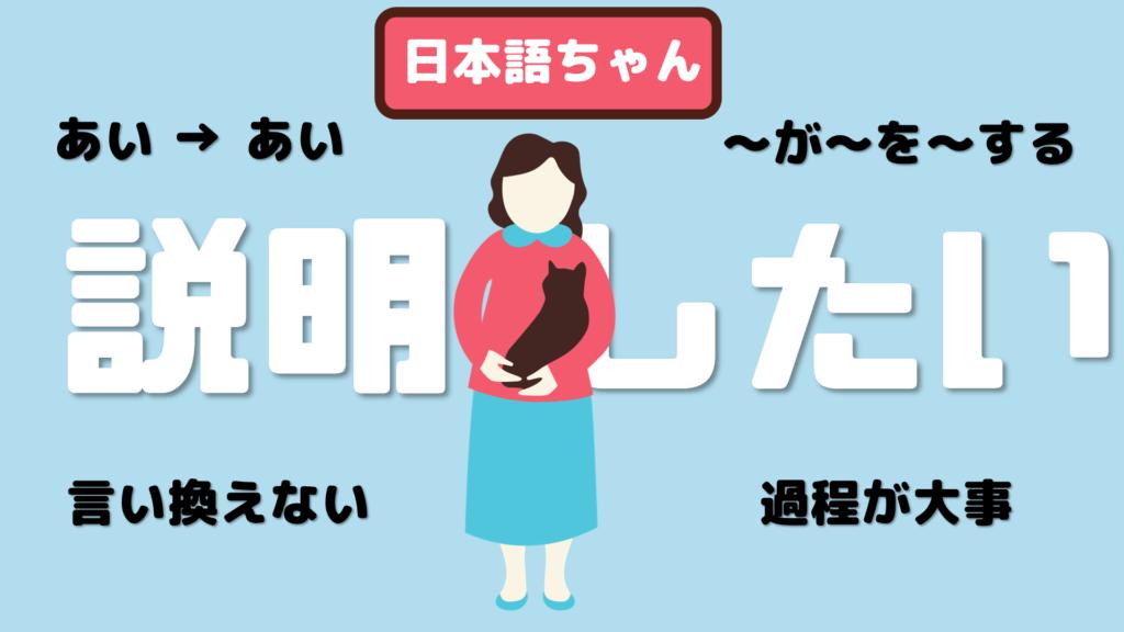 説明したい日本語ちゃん